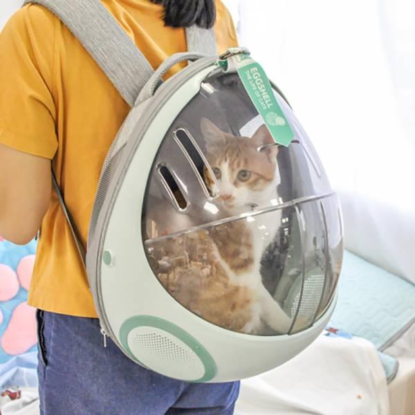 官方正版 免運【主子的移動小窩】外出家用太空包 長條氣孔升級版  貓背包,貓窩,貓外出