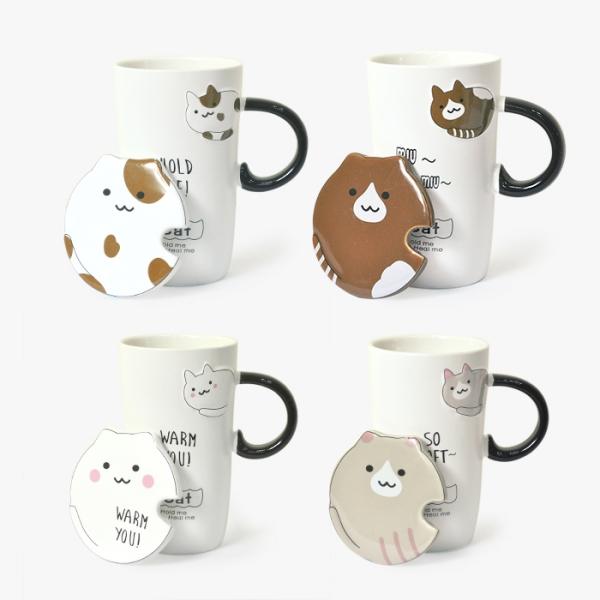 *【貓咪來去乾一杯】陶瓷杯