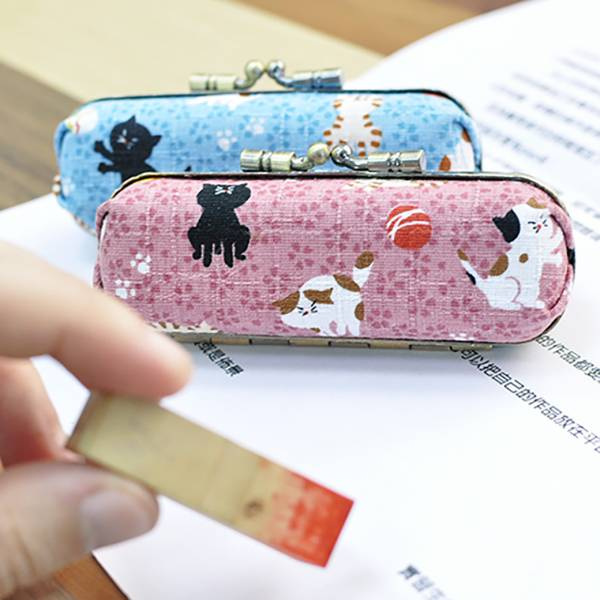 【隨時都能蓋印章】印章盒 設計師手作 貓咪印章盒,日本,印章收納盒