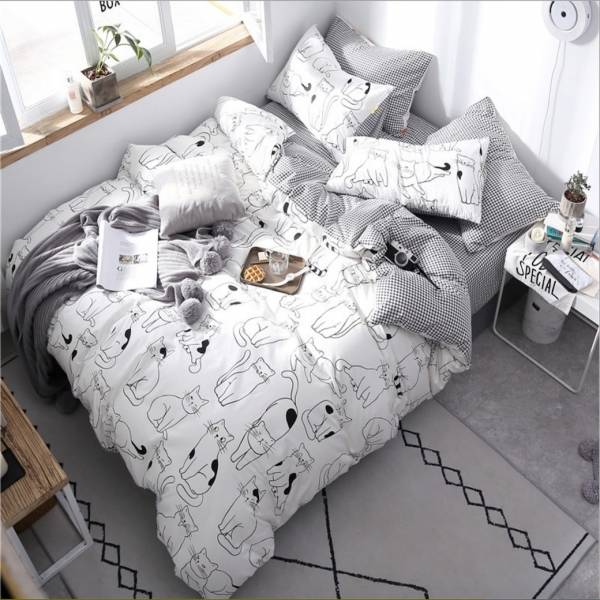 【喵喵陪妳入好眠】床包組雙人
