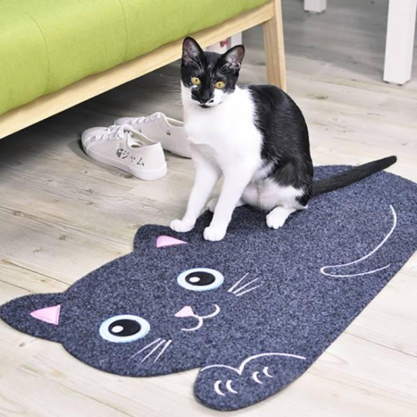 【腳下留貓】黑貓地墊