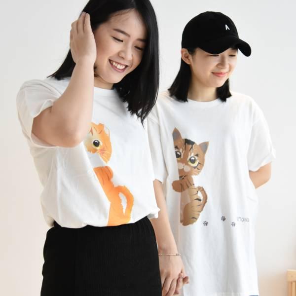 自創品牌 ParkCat【衣櫃缺件喵喵T】短袖棉T  短袖,短T,貓咪,純棉