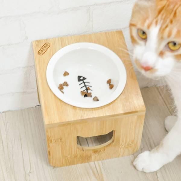 【主子要吃飯】碗架+陶瓷碗 飼料怎麼選,乾乾怎麼選,吃飼料、寵物碗、吃飼料、吃乾乾