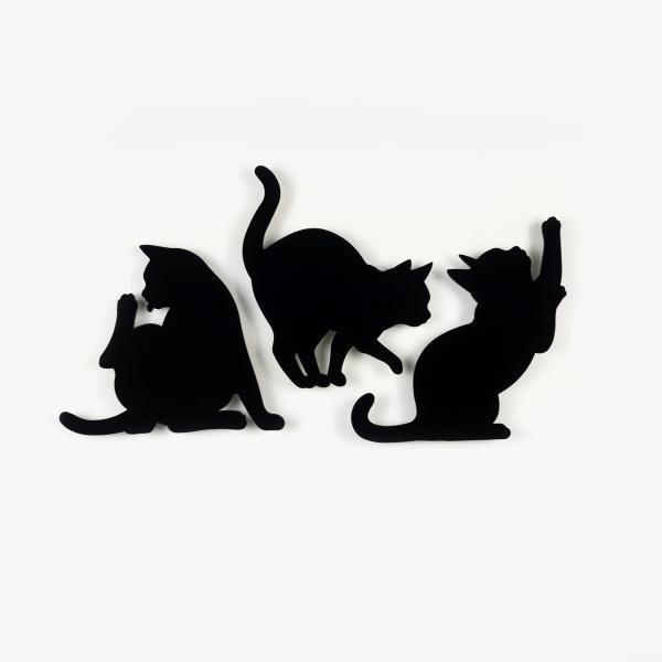 *日本進口【背著光的剪影貓】夜燈