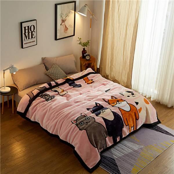 【冬天需要蓋毛毯】雙層毛毯(中)