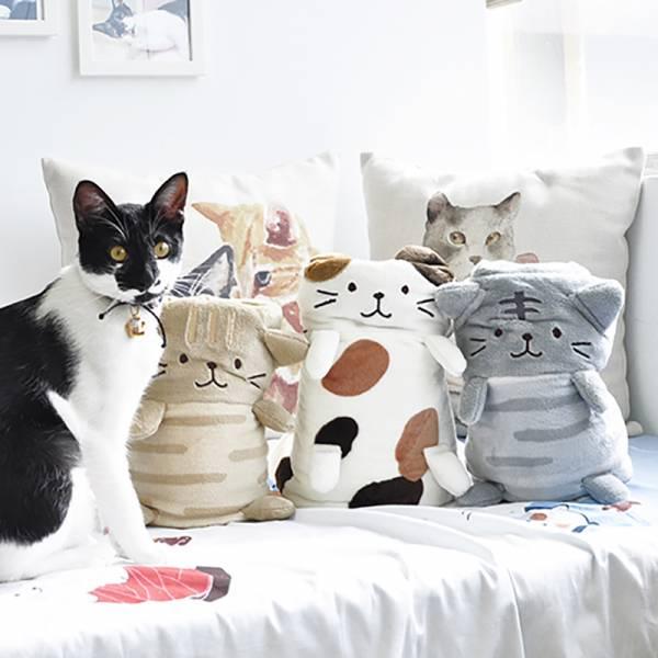 *【 蓋個貓兒在身上】造型毛毯