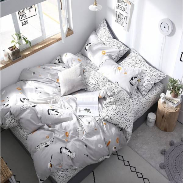 【喵喵陪妳入好眠】床包組雙人加大 貓床包、全棉床包、四件組