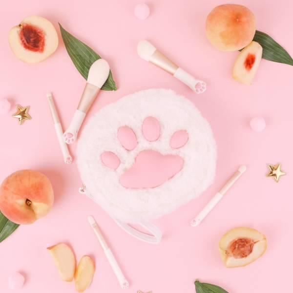 #【袋著迷你貓爪刷】化妝刷套組 化妝組,化妝刷,貓,貓耳