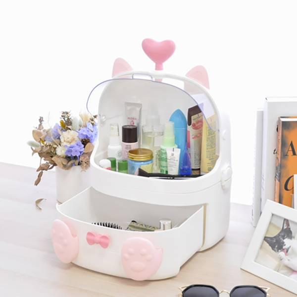 【女孩的秘密寶箱】化妝收納箱 貓咪化妝箱,零食箱,收納盒