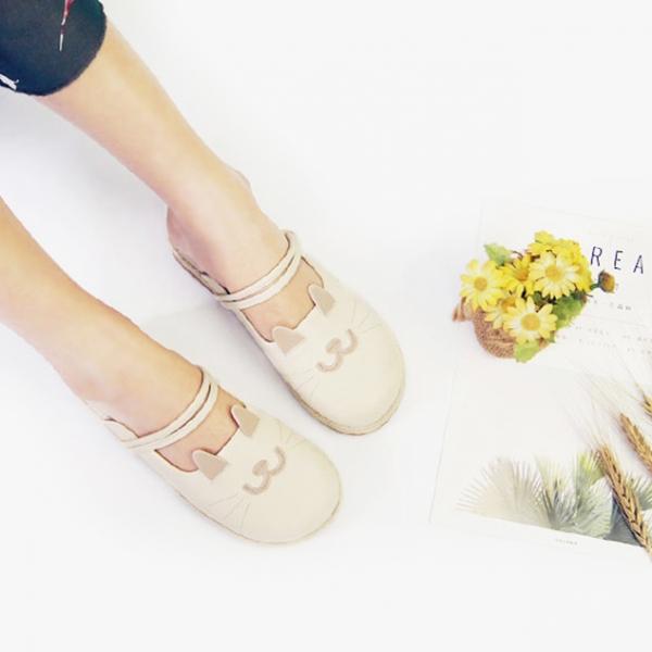 *【一雙喵喵過馬路】拖鞋涼鞋2用 涼鞋.拖鞋
