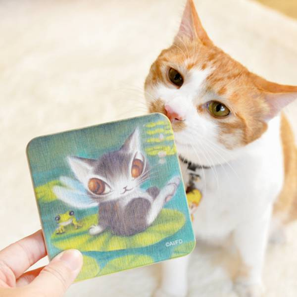 【用喵桌上不濕濕】限量 達洋貓-珪藻土杯墊