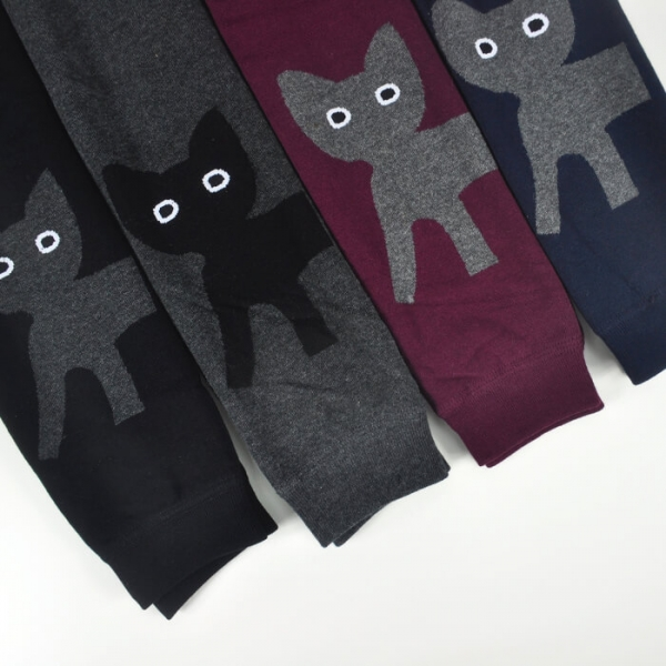 【親親貓咪暖暖腳】褲襪 貓頭褲襪、寒冬褲襪、彈力襪