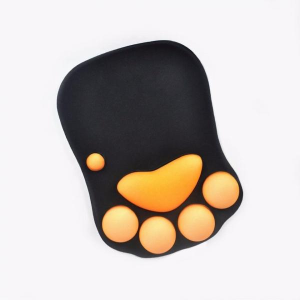 【舒壓的肉球】滑鼠墊 滑鼠墊,肉球滑鼠墊,橘色肉球
