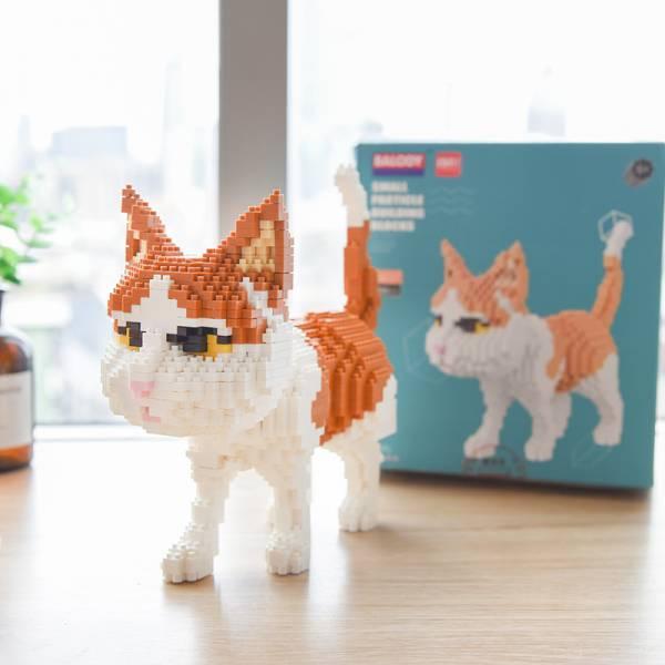 【親手做出主子】貓咪DIY玩具積木 模型