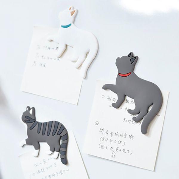 【掛一下貓尾】貓散步磁鐵組 散步磁鐵、冰箱貼、貓冰箱