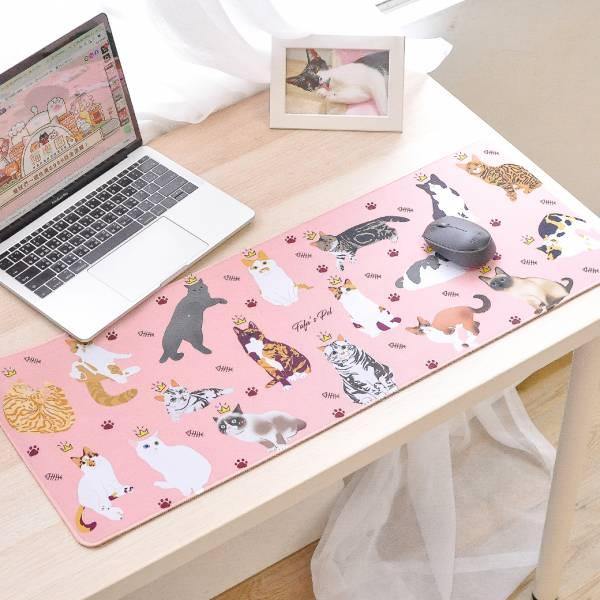 【滿滿喵喵辦公好心情】滑鼠桌墊 貓咪滑鼠桌墊,滑鼠墊