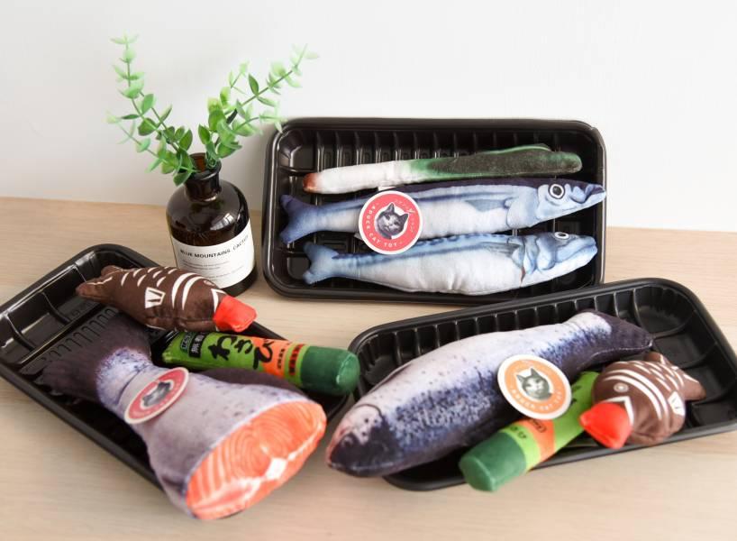 【好吃的魚抵家】鮮魚貓薄荷玩具套組 貓草包