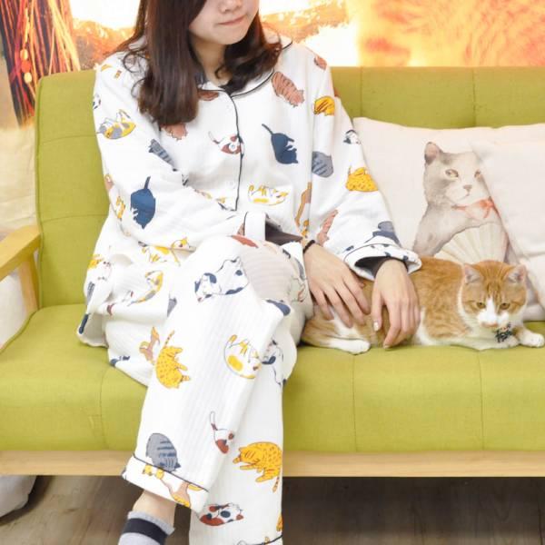 【睡覺別著涼】貓咪睡衣