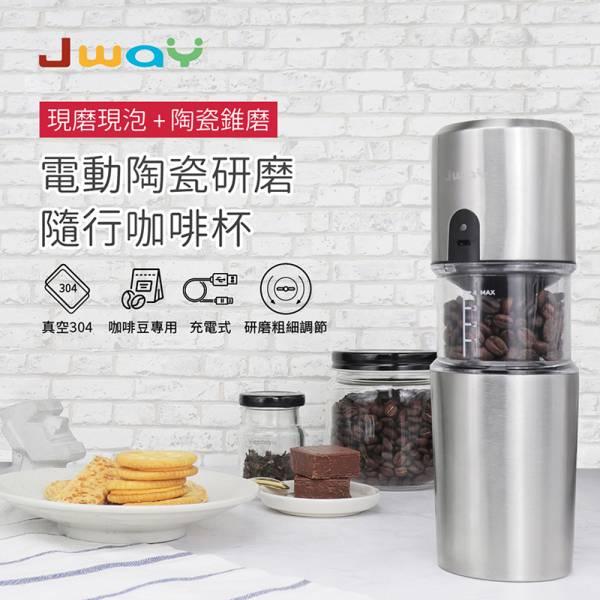 【喝個咖啡好方便】電動陶瓷研磨隨行咖啡杯 貓樂園×Jway