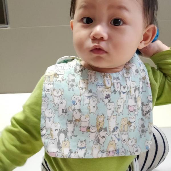 *【小寶貝也愛喵】兒童圍兜 設計師手作