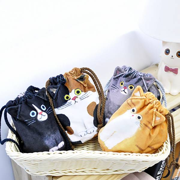 *日本進口【喵仔一繩收納】小提包