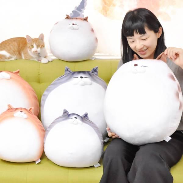 *剩2件*【圓滾滾貓貓】貓抱枕