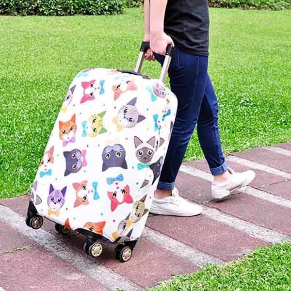 【喵喵旅行去】行李套 行李套、可愛、彈力、防潑水