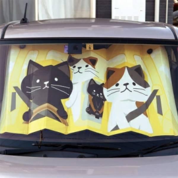【讓貓幫你擋太陽】汽車遮陽篷