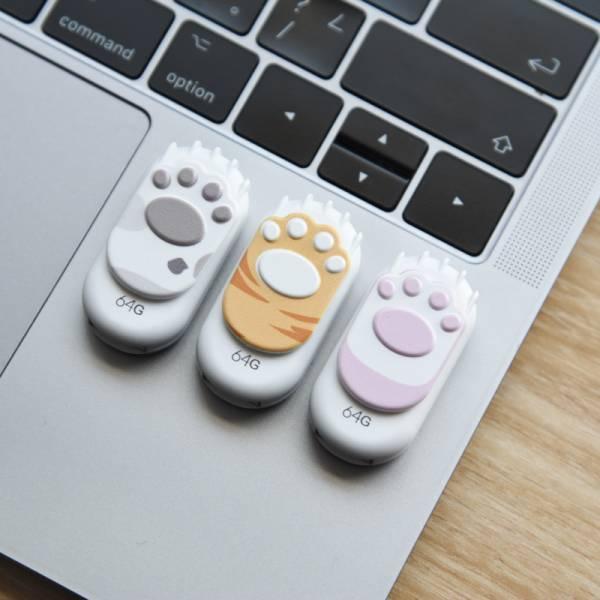 【手機電腦都能用】貓爪USB隨身碟 可愛貓掌隨身碟USB