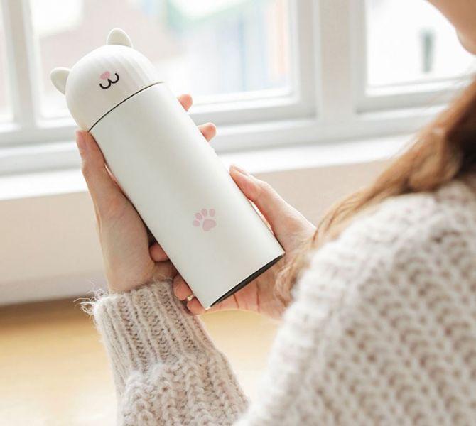 *【看得見水溫的喵水瓶】智能保溫杯 保溫,保溫瓶,保溫杯