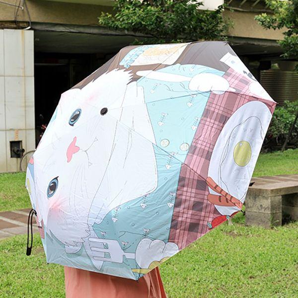*【貓仔不讓你淋到雨】手繪貪吃的貓雨傘(大) 貪吃貓、貓雨傘、文創傘