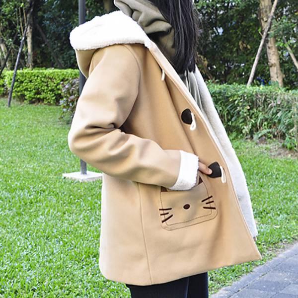 【來件貓大衣吧】外套 貓大衣、禦寒、貓牛角外套
