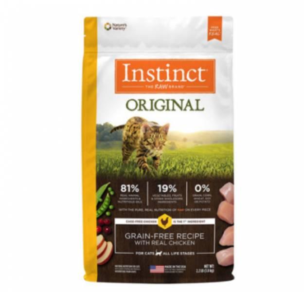 原點【 Instinct 無穀全貓配方飼料】雞肉2.2公斤 鮭魚2公斤 原點【 Instinct 無穀全貓配方】雞肉2.2公斤 鮭魚2公斤