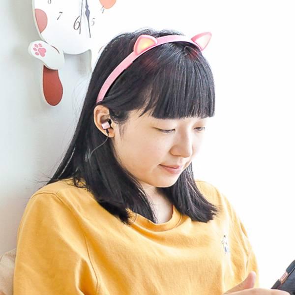 【輕盈貓耳隨處聽】貓耳髮箍藍芽耳機