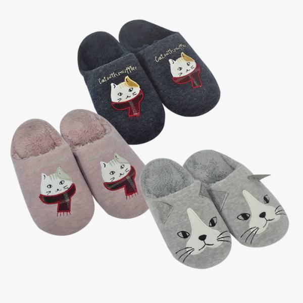 【冬天不怕腳冰冰】室內拖鞋 貓拖鞋、毛茸茸、冬天