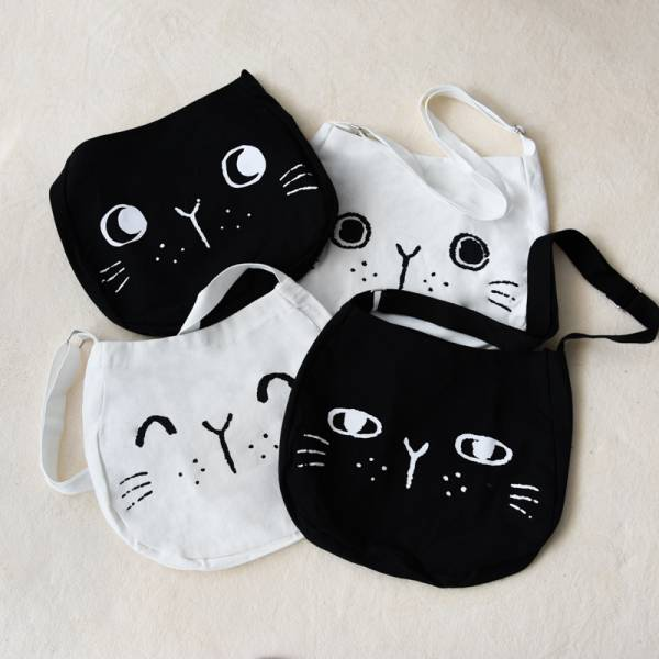 【可愛喵掛身上】黑白喵喵帆布袋