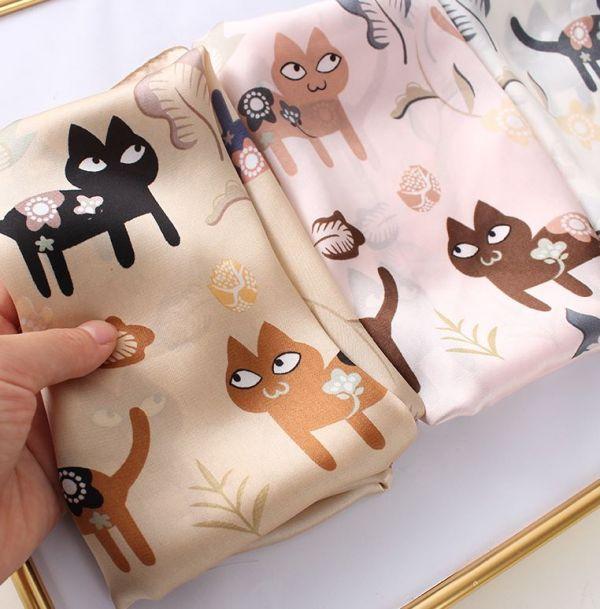 【秋天來條喵絲巾】絲巾 秋天,絲巾,貓圍巾,貓絲巾