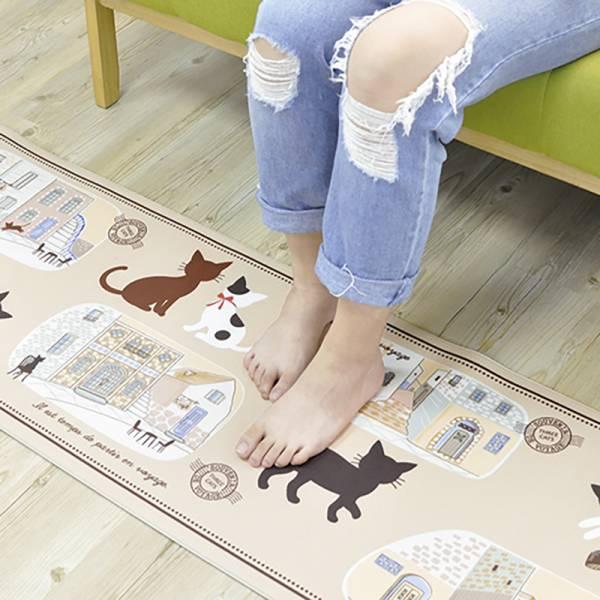 *【在廚房也要踩一下喵】廚房地毯 廚房腳踏墊,貓防滑墊,貓廚房地毯