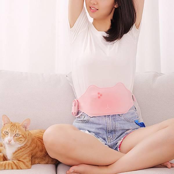 【熱敷肚子再按摩】貓咪暖宮護腰 按摩,護腰,月經,按摩器