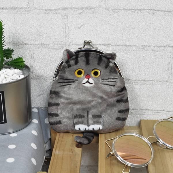 *日本進口【胖胖貓的零錢包包】 零錢包