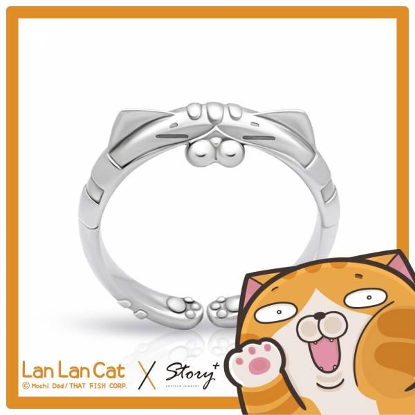 【閃亮亮白爛貓戒指】純銀戒指
