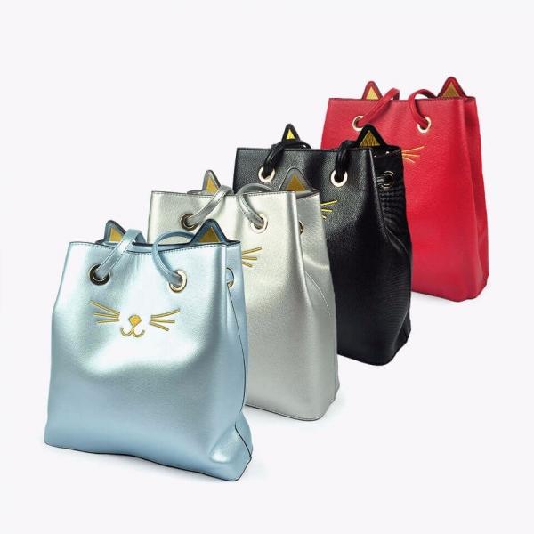 【時尚貓咪俏女孩】側背包