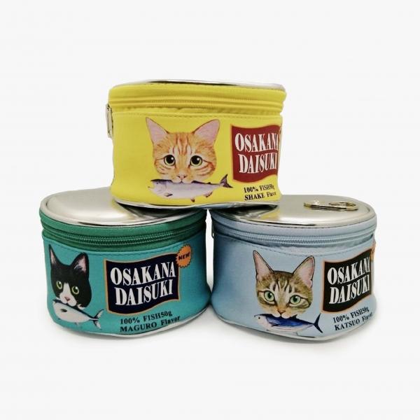 【裝在貓罐裡】收納化妝包 罐頭化妝包、日本化妝包、罐頭造型