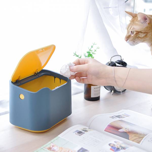 【收垃圾小幫手】貓咪按壓式垃圾桶