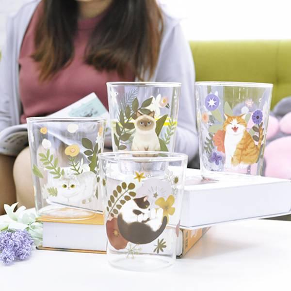 *【冰鎮一杯貓咪的夏天】玻璃杯