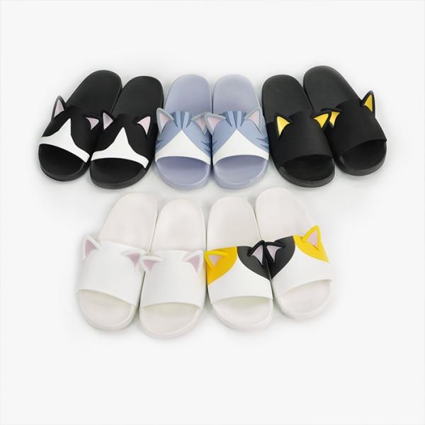 QC微瑕疵【喵喵聽著腳步聲】 貓樂園,創意市集,貓,免耗材清潔滾輪 ,貓耳拖鞋