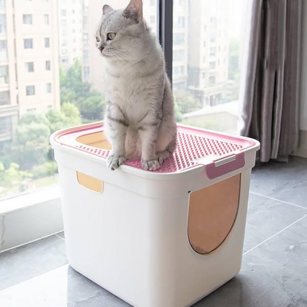 【給喵一間豪宅廁所】ParkCat立桶貓砂盆 貓砂盆,置頂式貓砂盆,超大容量貓砂盆