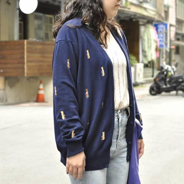 *【柔柔喵的秋日】針織衫 針織衫,滿版毛衣,貓衣