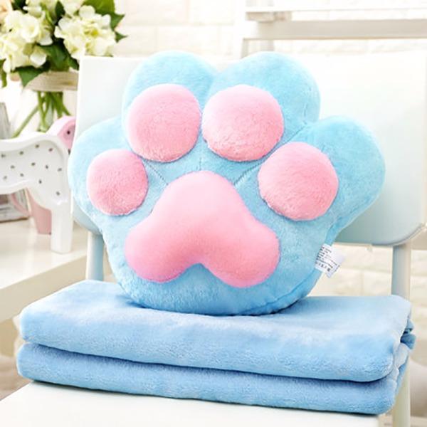 讓肉球來溫暖你(抱枕+毛毯) 抱枕,肉球,毯子,毛毯,貓咪