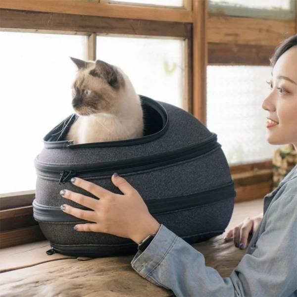 【貓仔輕鬆躺在Eggy裡】Eggy小宅包 貓窩,貓外出籠,蛋,造型外出籠